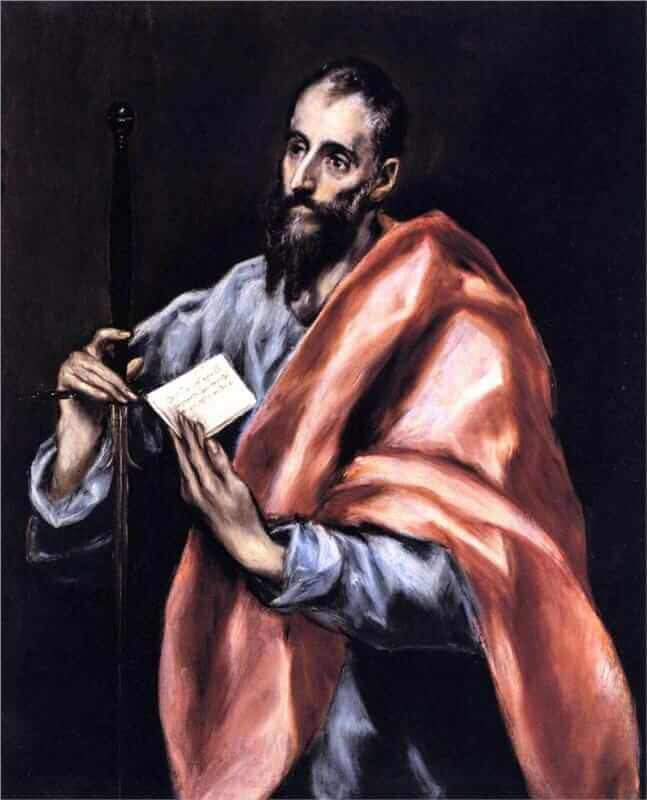 Apostle st paul - by El Greco