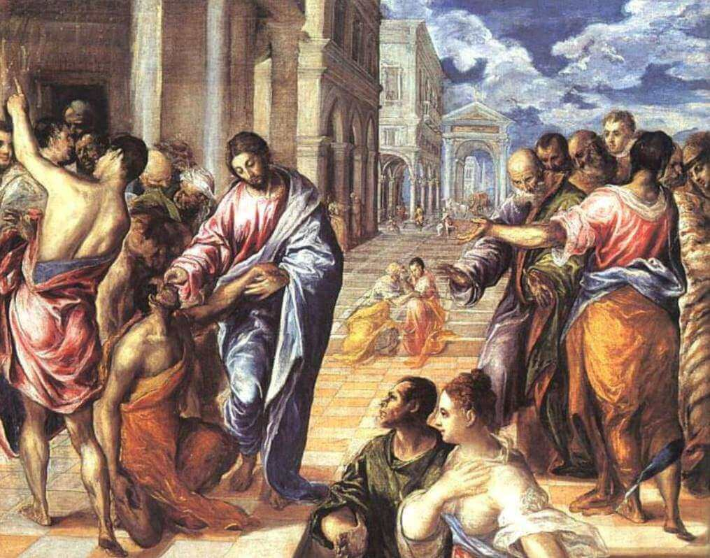 Christ Healing the Blind , 1570 by El Greco