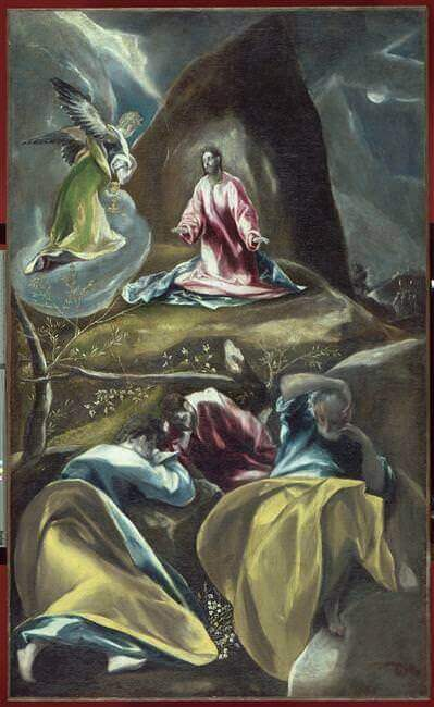 Christ in the olive garden - by El Greco