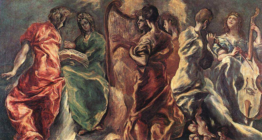Concert of angels - by El Greco