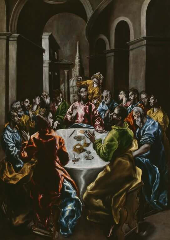 Feast in the house of simon - by El Greco