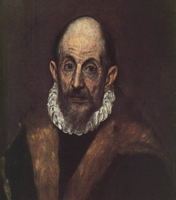 Portrait of an old man - by El Greco