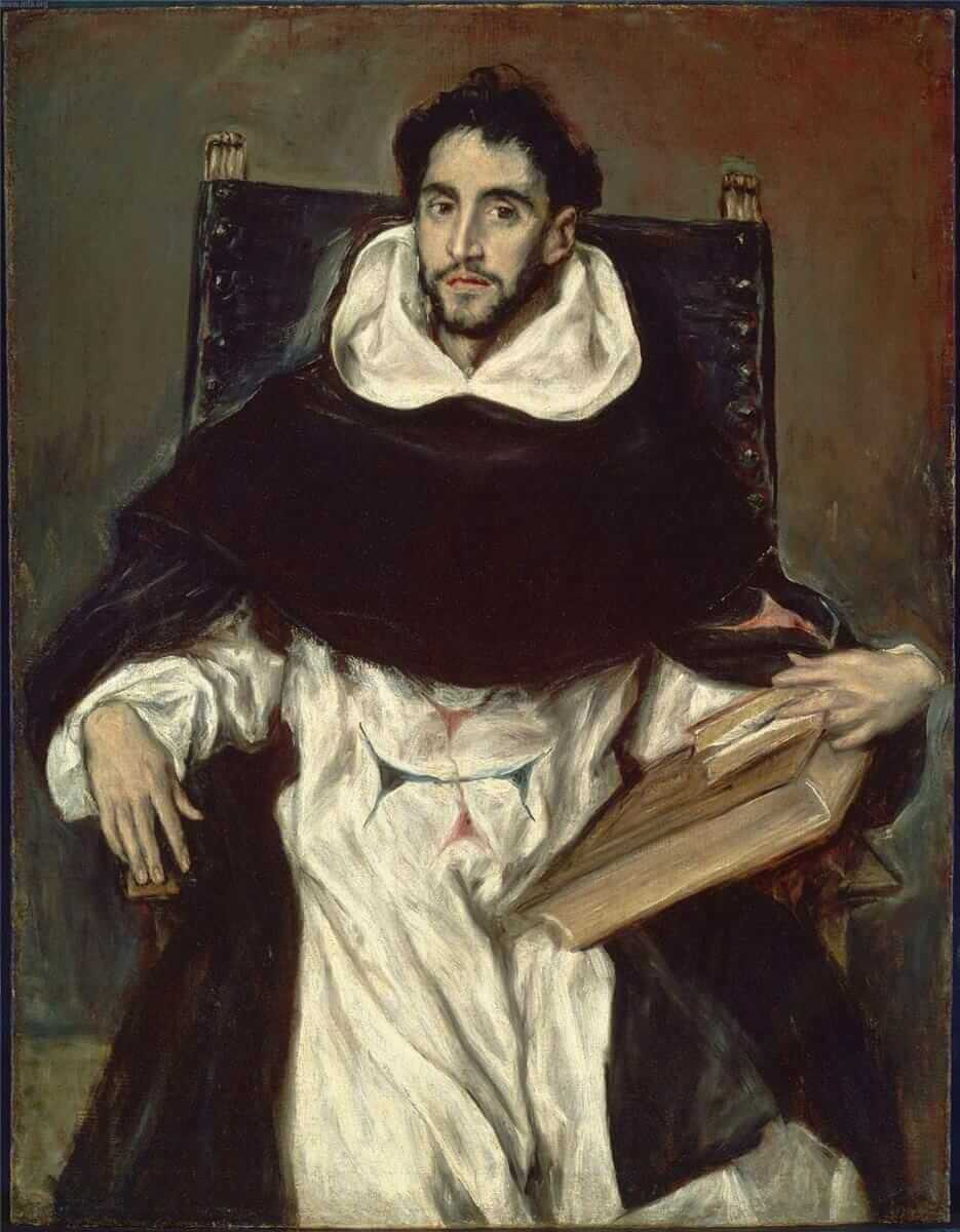 Portrait of fray hortensio felix paravicino - by El Greco