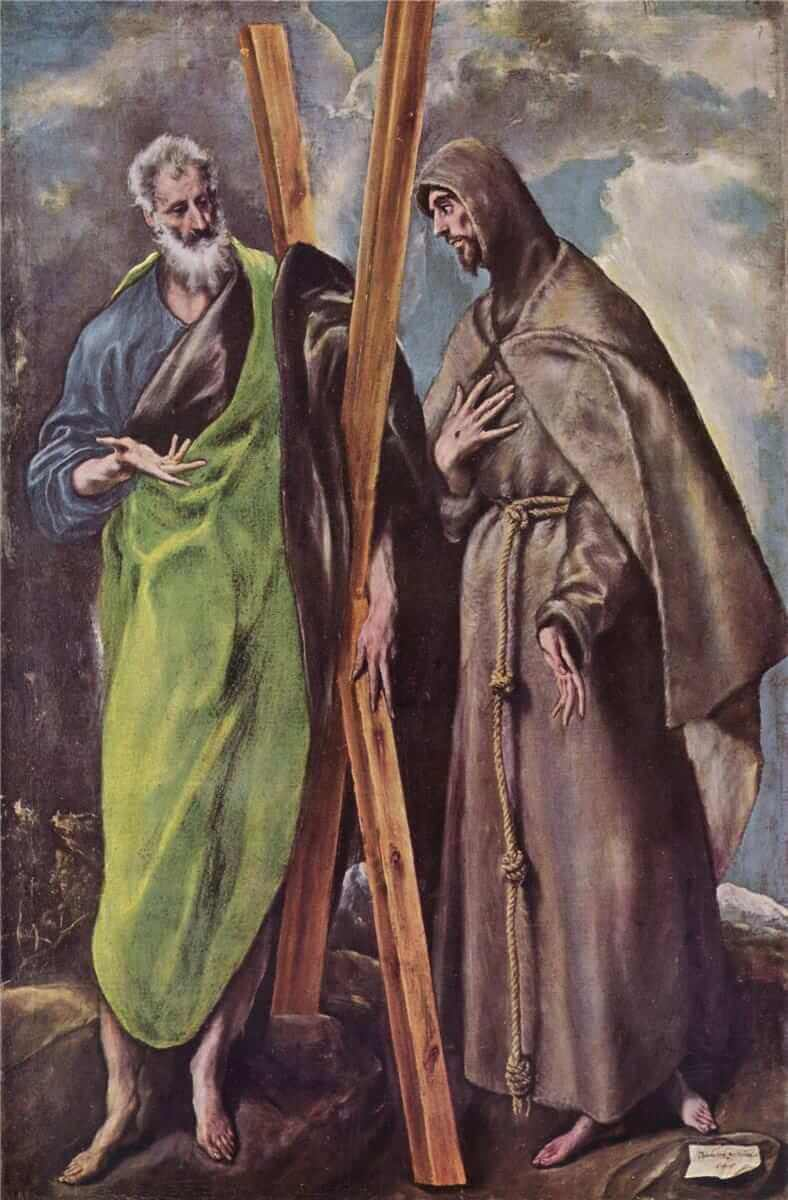 St andrew and st francis - by El Greco