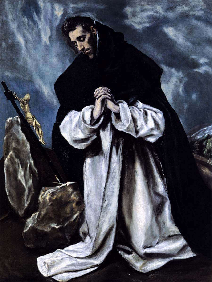 St dominic praying - by El Greco