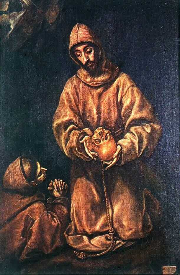 St francis and brother rufus - by El Greco