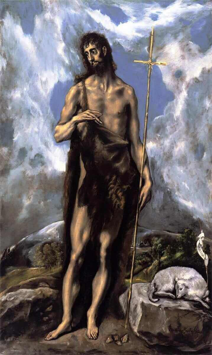 St john the baptist - by El Greco