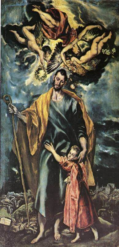 St joseph and the christ child - by El Greco