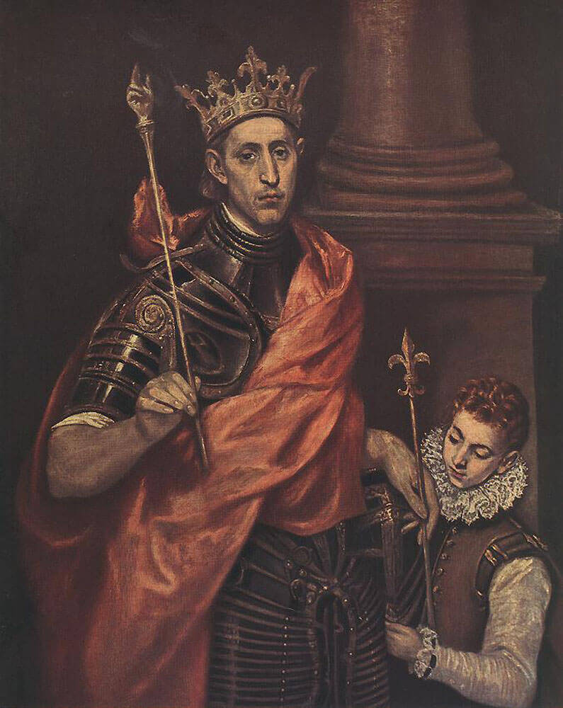 St louis king of france with a page - by El Greco
