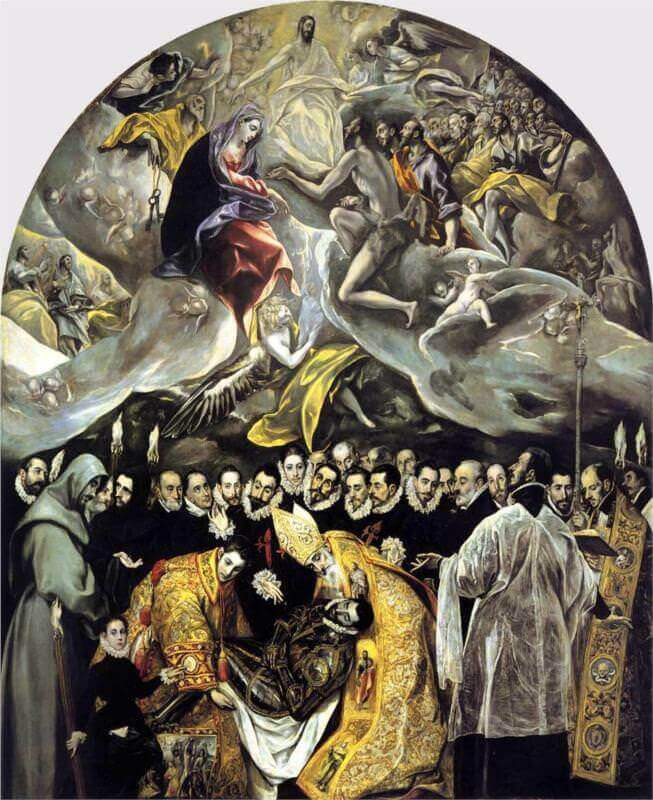 The Burial of the Count of Orgaz, 1586 by El Greco