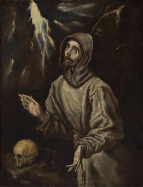 The ecstasy of st francis of assisi - by El Greco
