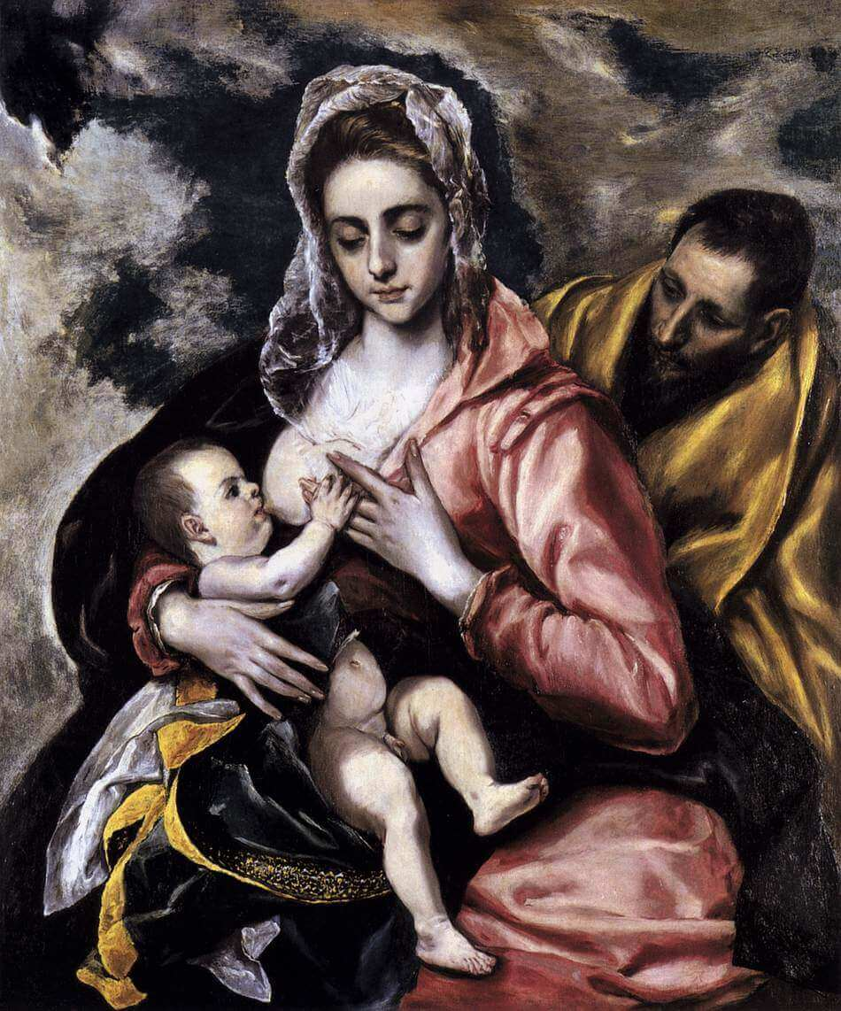 The holy family - by El Greco