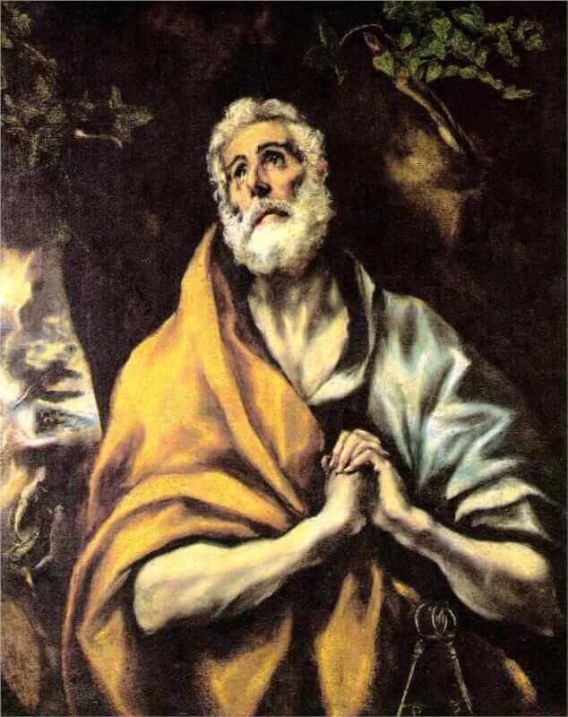 The repentant peter - by El Greco