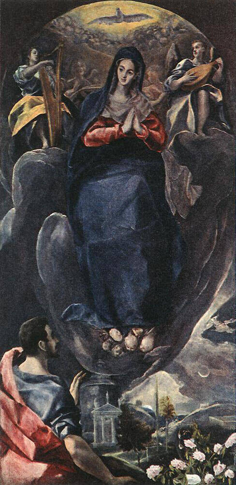 the virgin of the immaculate conception and st john by